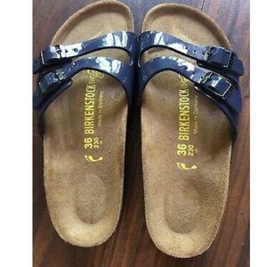 NWOB Birkenstock Sandals Size 36 Color Blue Straps
